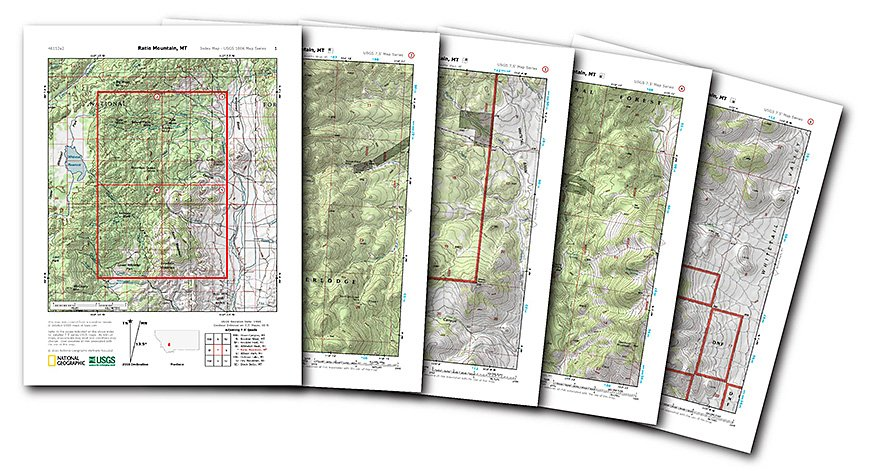 PDF Quads Trail Maps - Topagraphical map of us