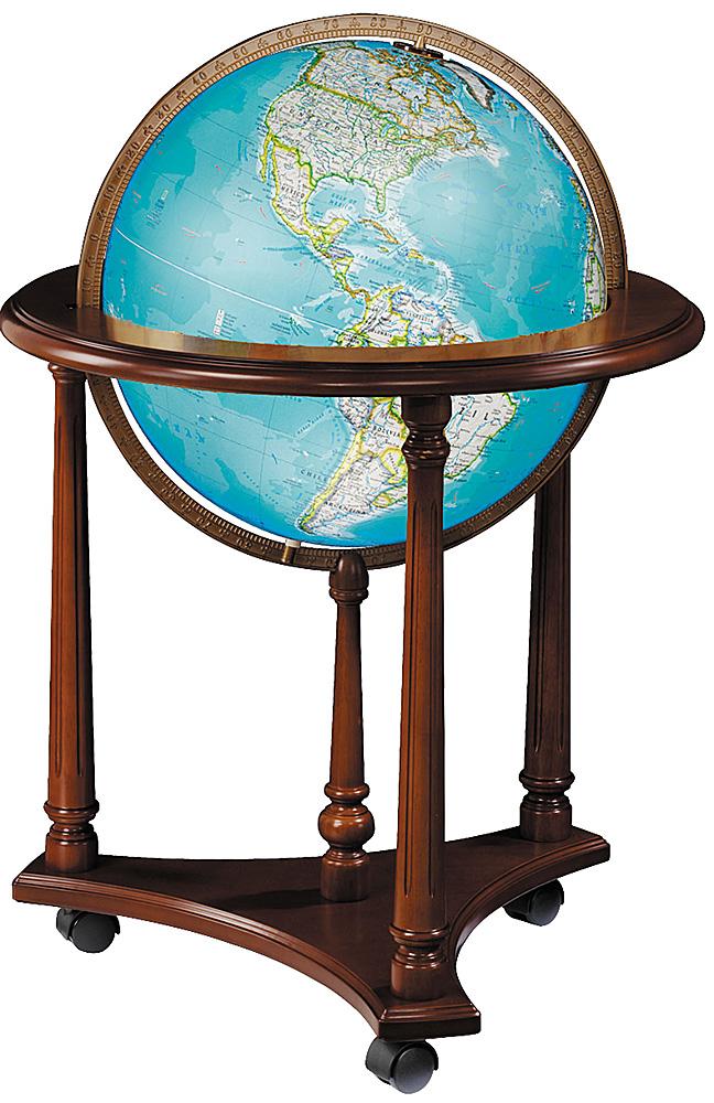 Kingsley Illuminated Floor Globe