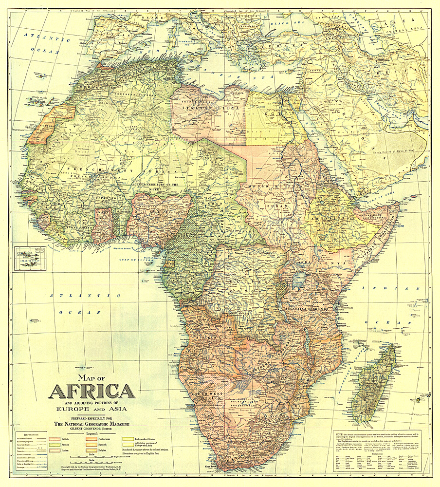 Africa Map With Portions Of Europe And Asia - Map africa