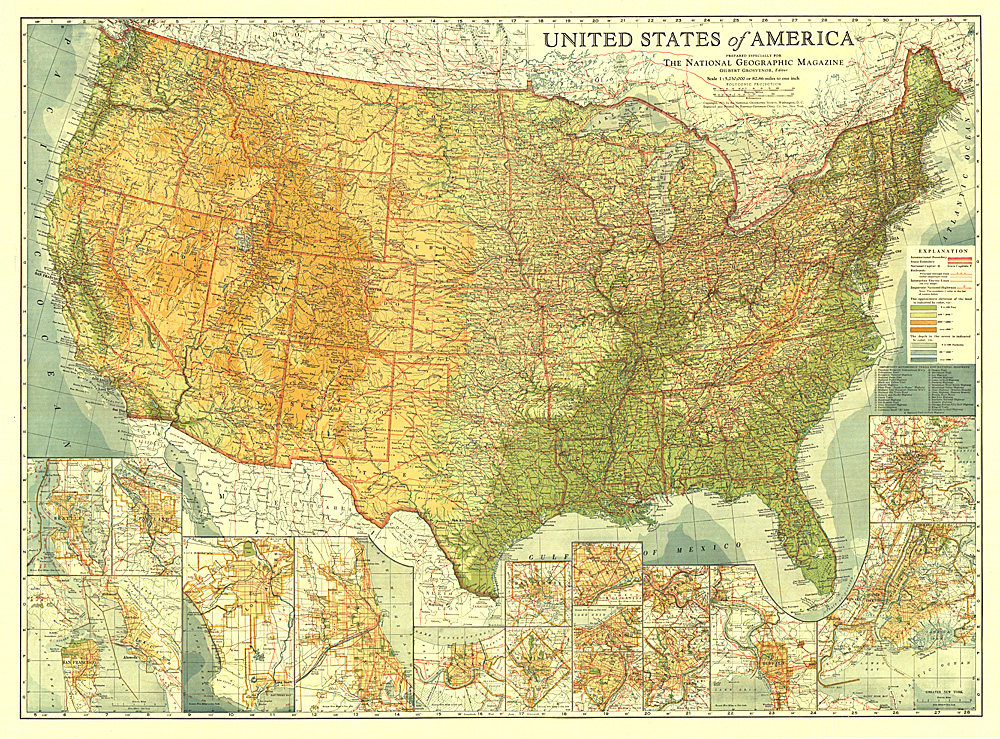 United States - Map Archive - Wall Maps