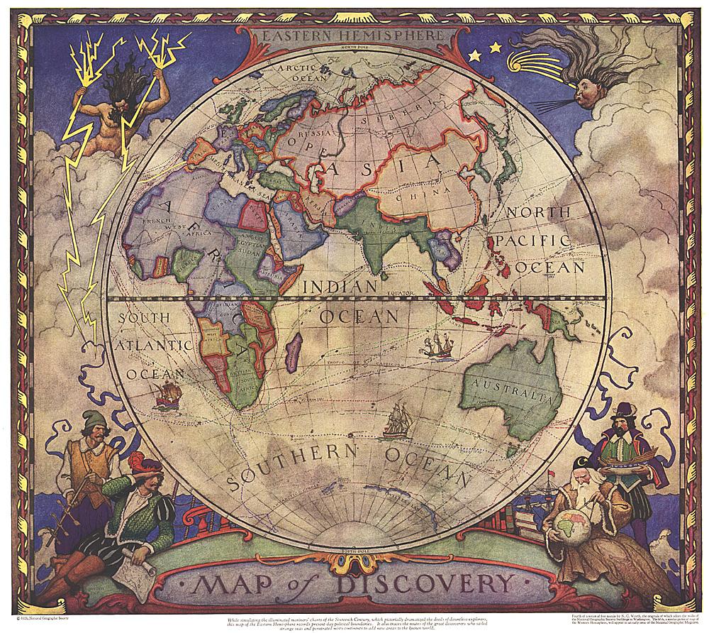 Map of Discovery Eastern Hemisphere
