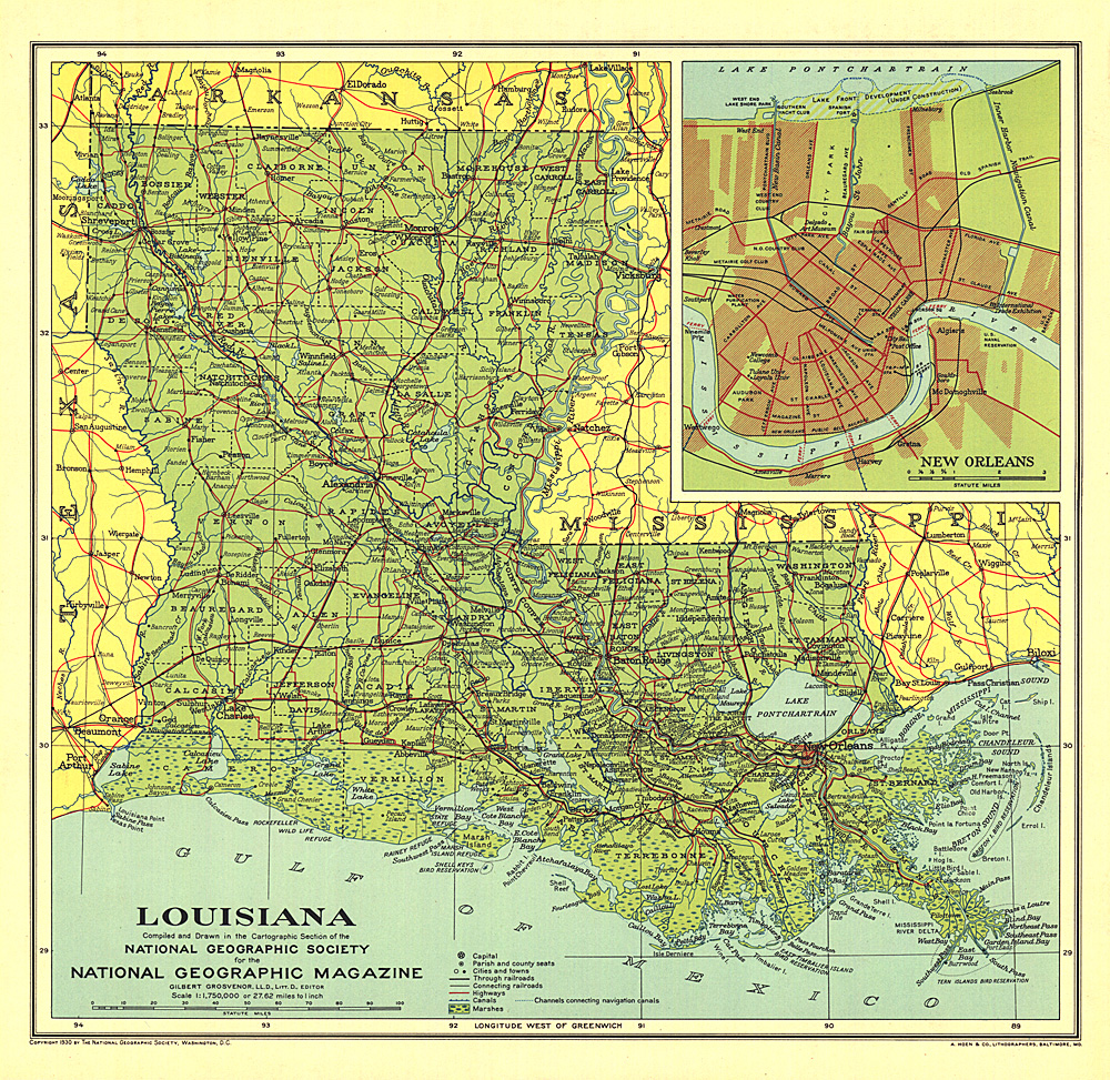 Louisiana Map - Lousiana map