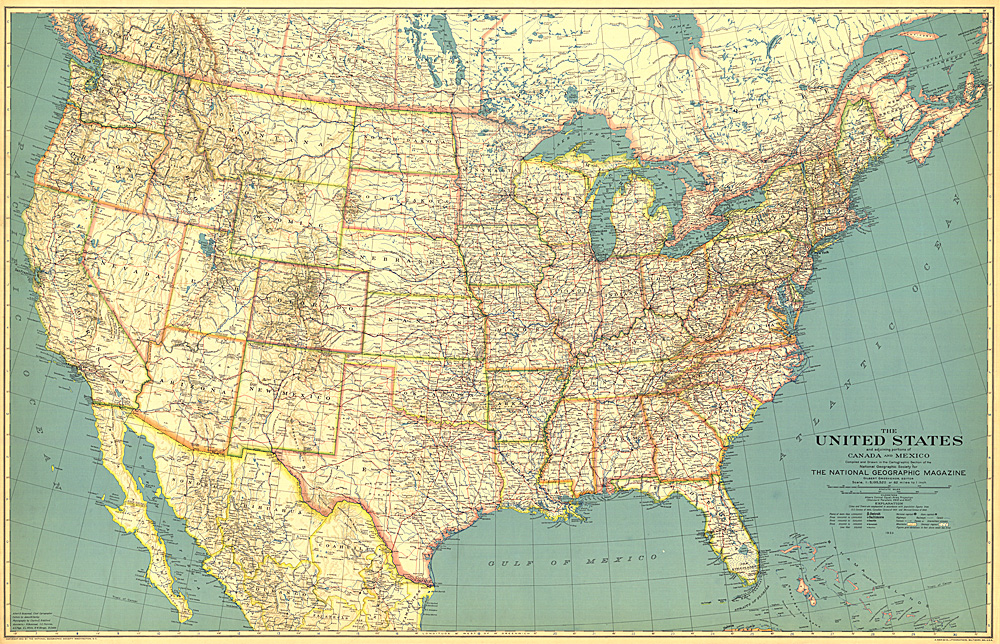 United States Of America Map - A picture of the united states of america map