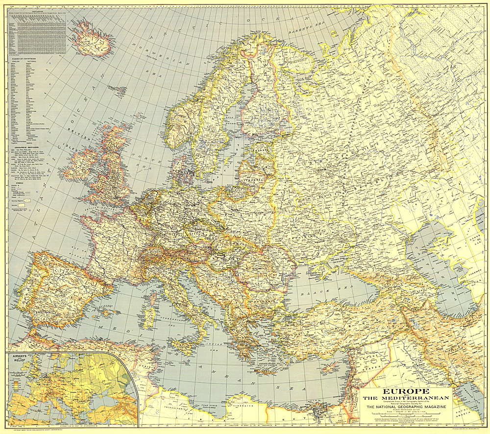 Europe and the Mediterranean Map