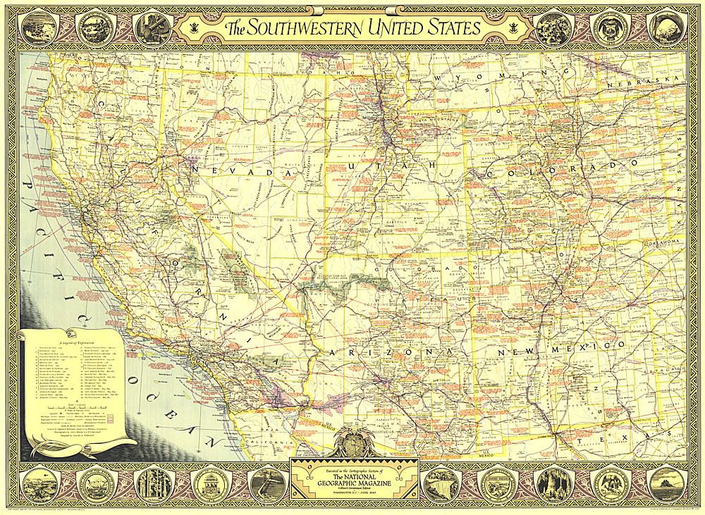 Southwestern United States Map - Southwestern usa map