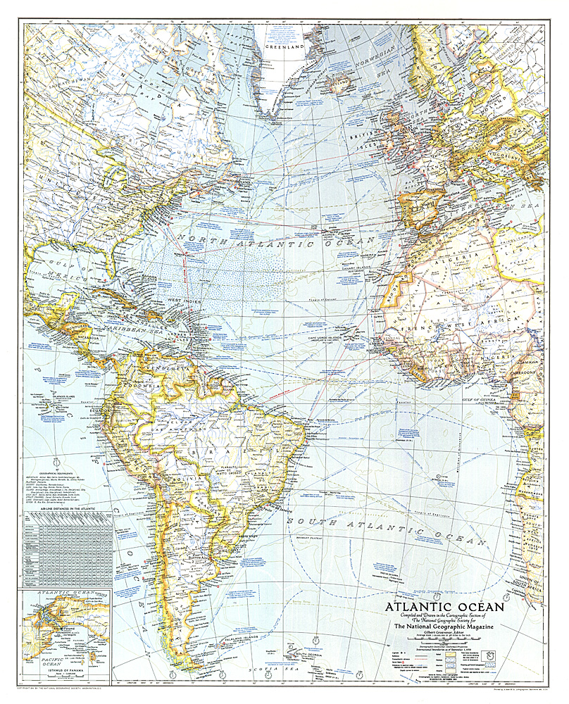 . atlantic ocean map