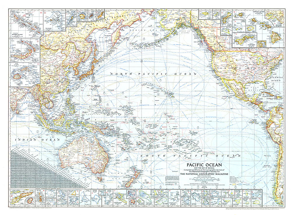 Pacific Ocean And The Bay Of Bengal Map - World map pacific ocean