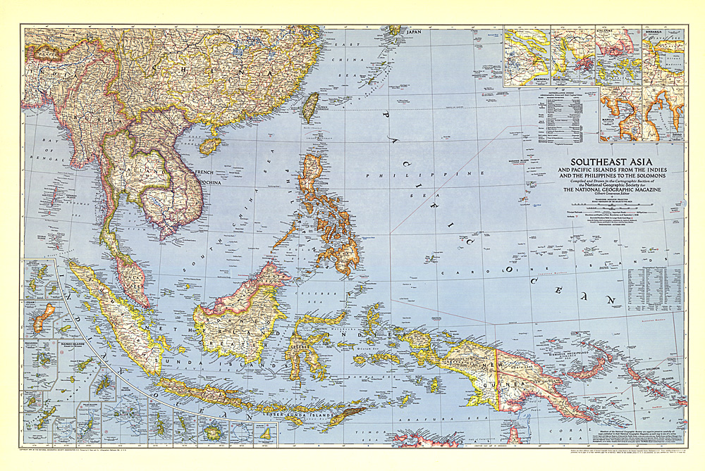 Southeast Asia And The Pacific Islands Map - Islands map