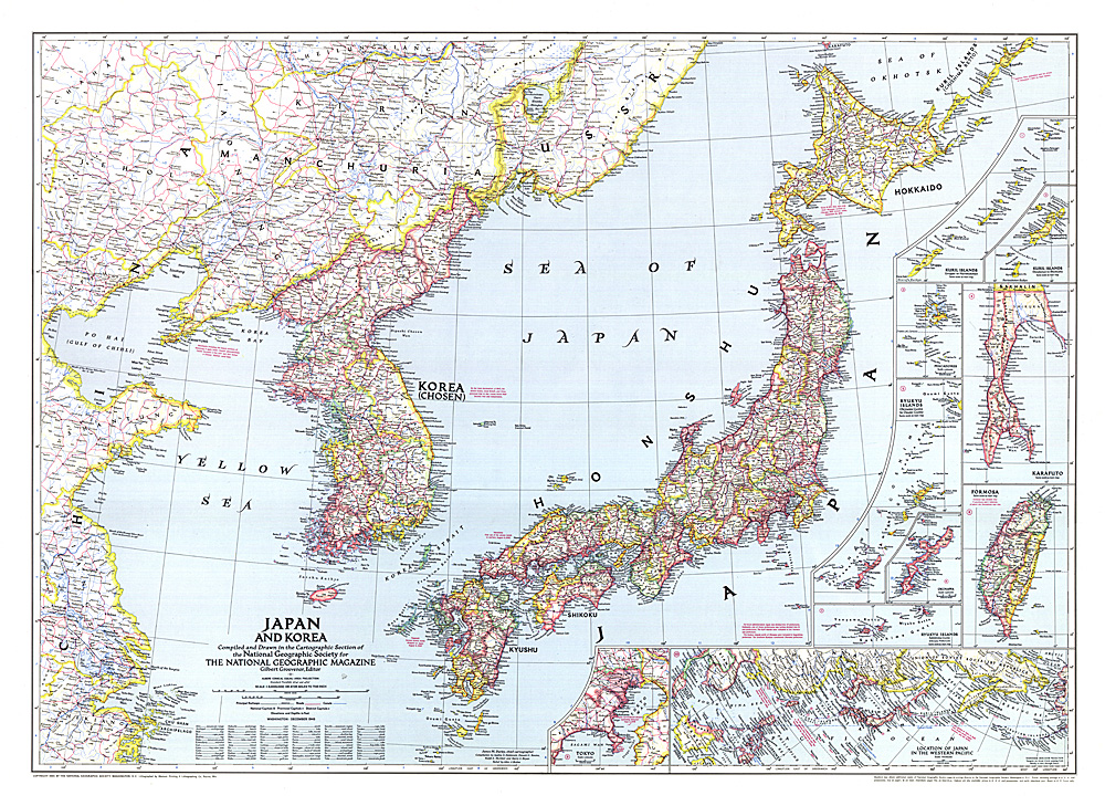 Japan And Korea Map - Japan map korea