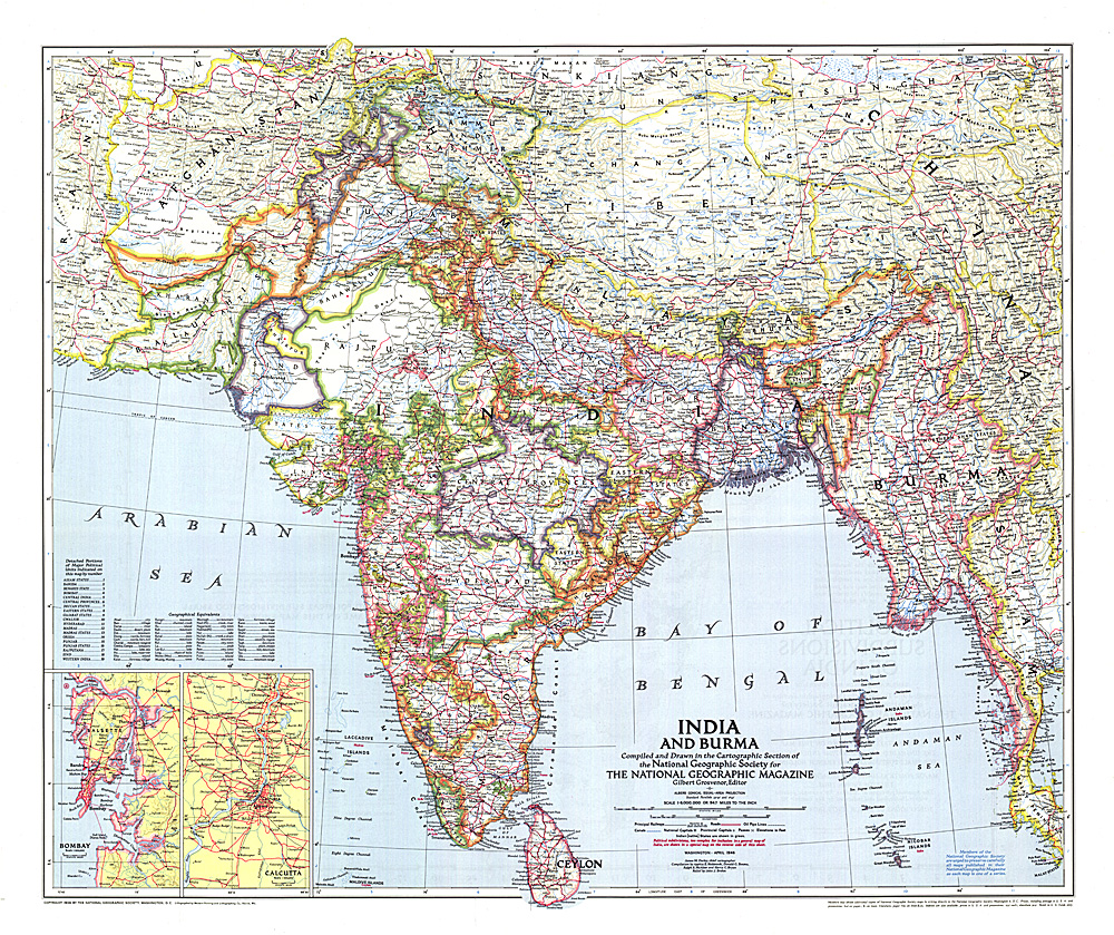 1946 India And Burma Map