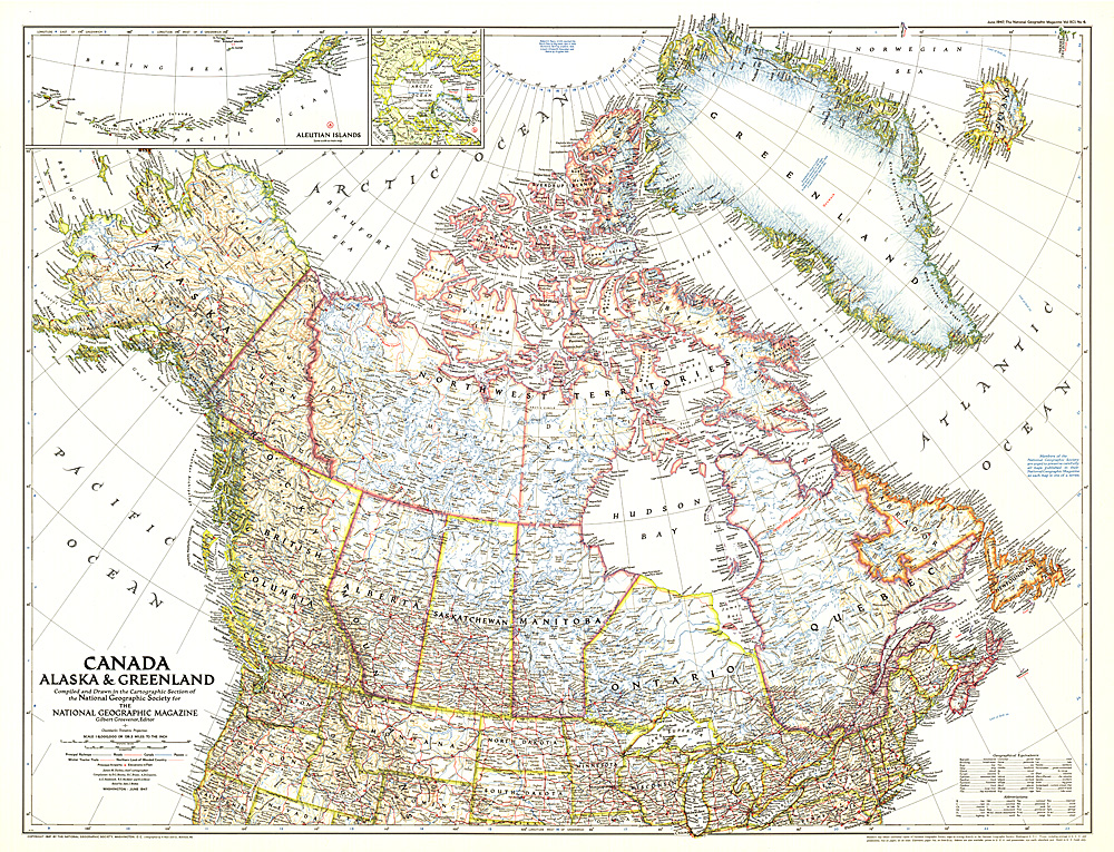 Canada Alaska And Greenland Map - Map of alaska and canada