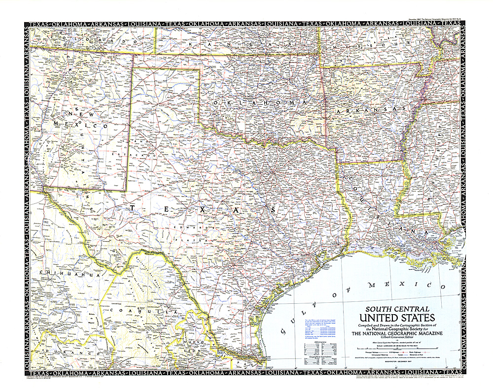 South Central United States Map - Arkansas us map