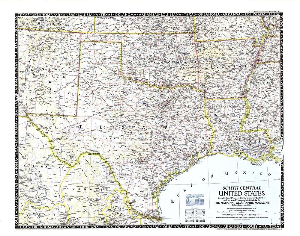 Central United States Map - Us map with south