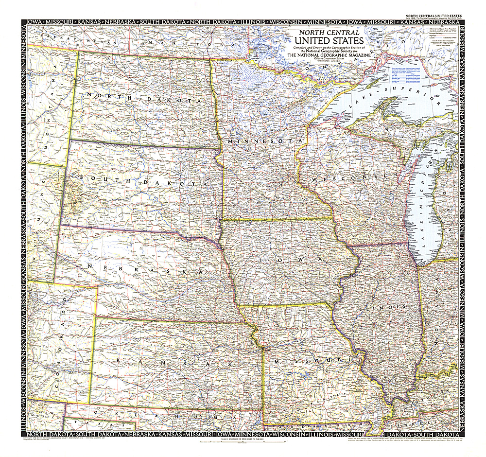 North Central United States Map - States map of the united states