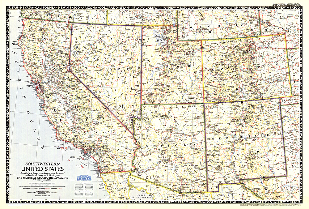 Southwestern United States Map - Map of south western us