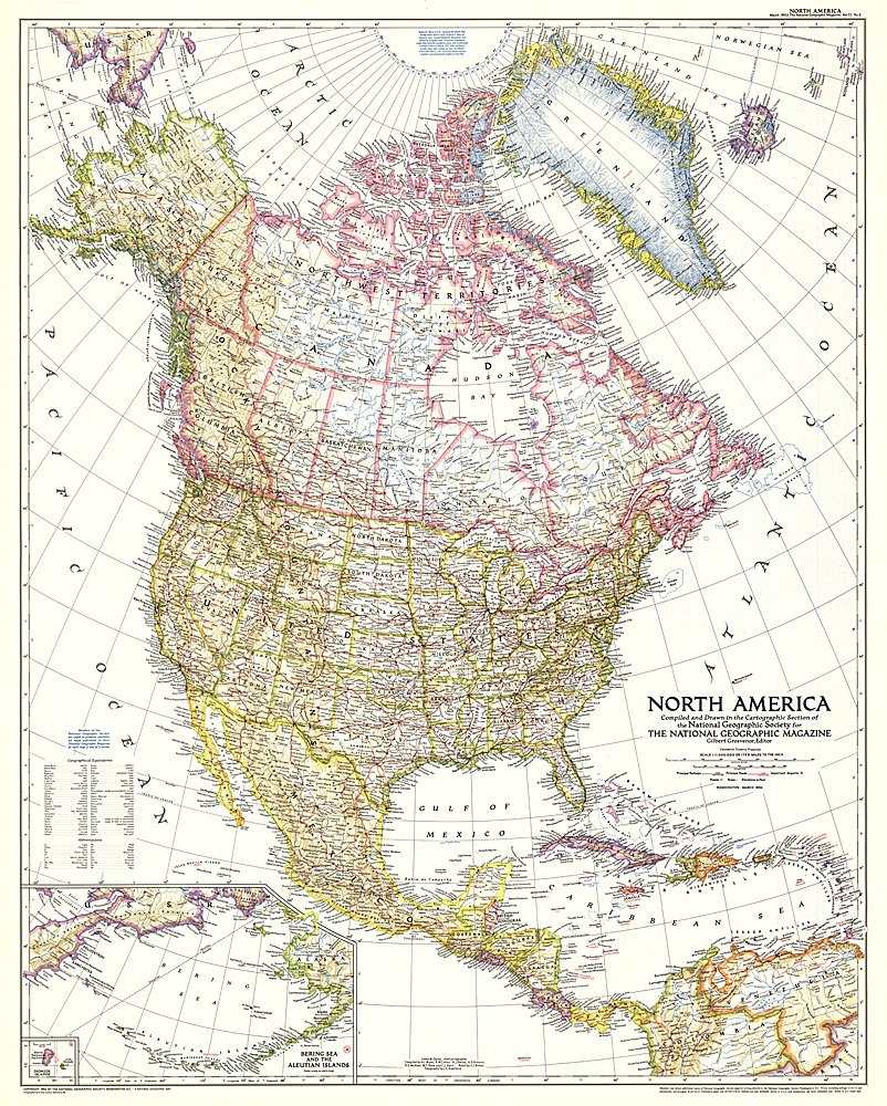 Map usa national geographic