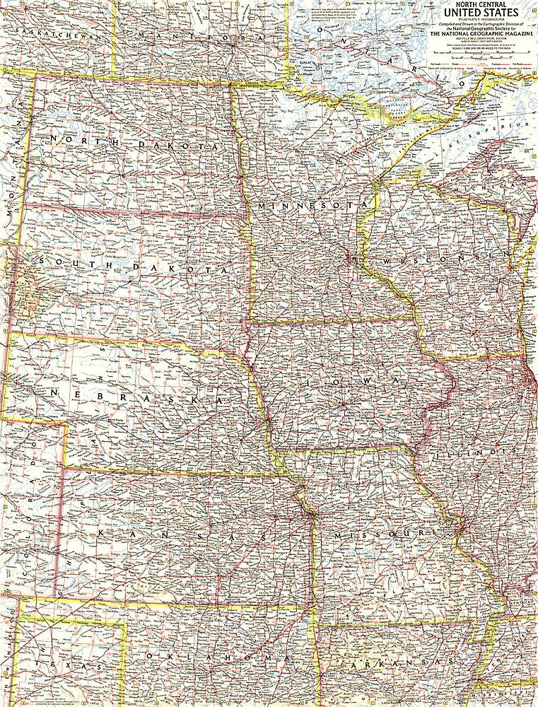 North Central United States Map