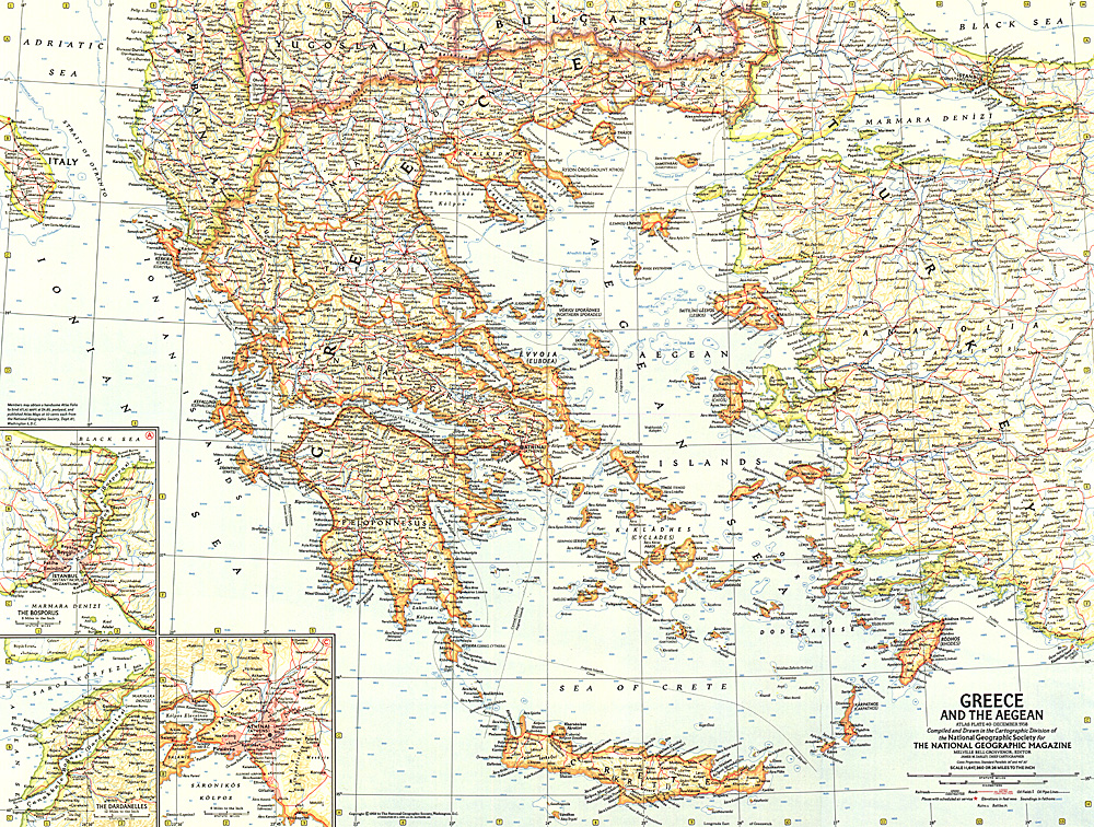 Greece and the Aegean Map