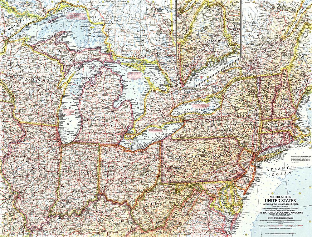 Northeastern United States Map