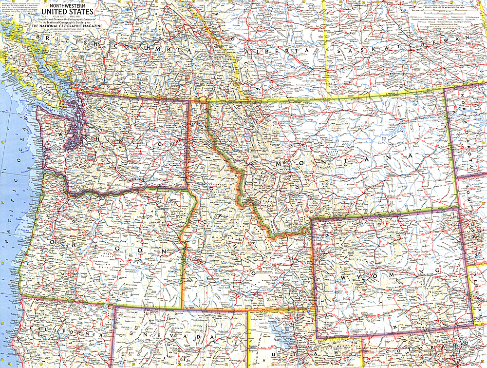 Roadmap Of The Us%0A Northwestern United States Map  Map us roads