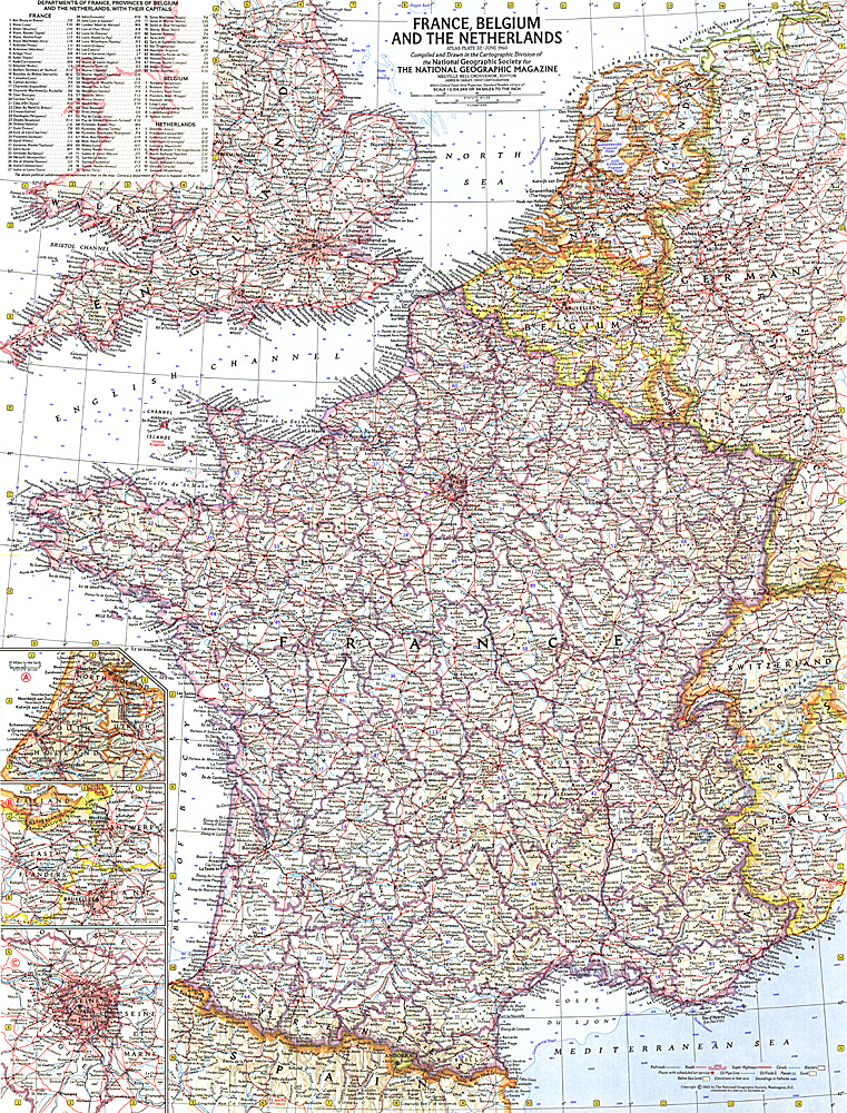 France Belgium and the Netherlands Map