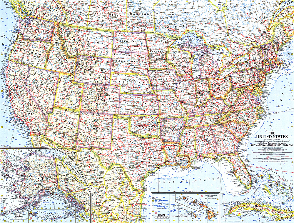 Ne Us States Map Globalinterco - Us highway map 1960