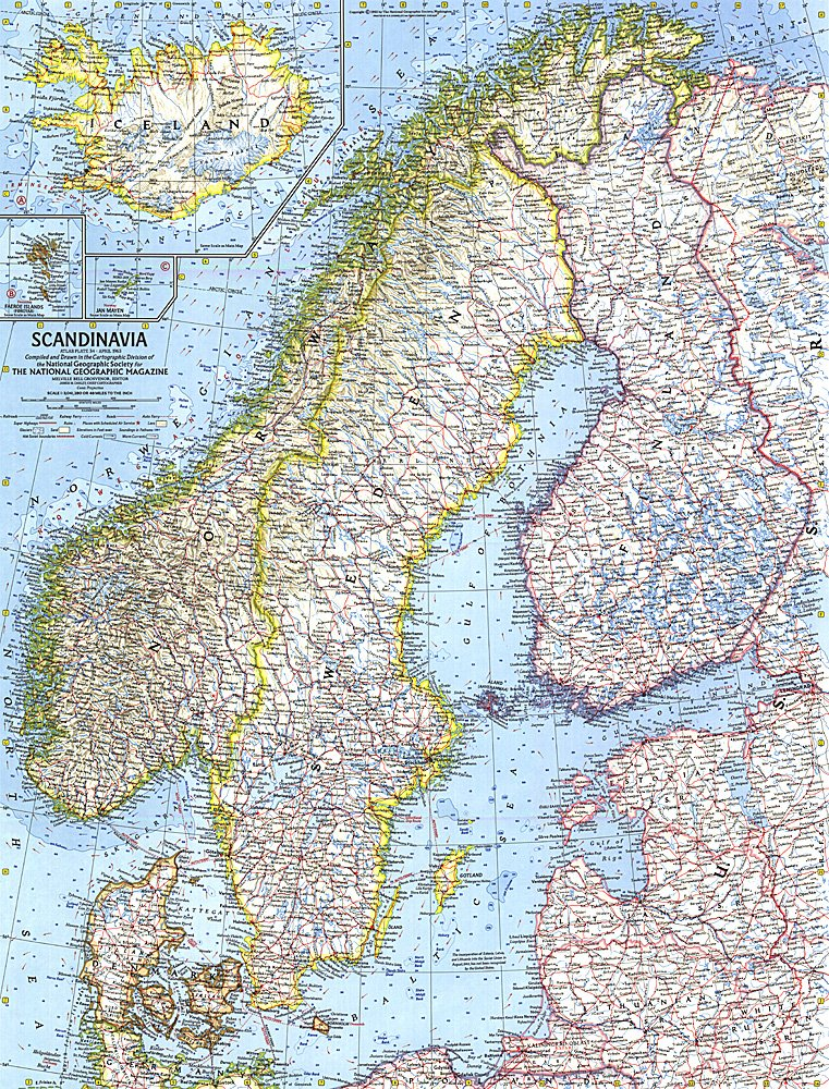 Scandinavia Map - Map of scandinavia
