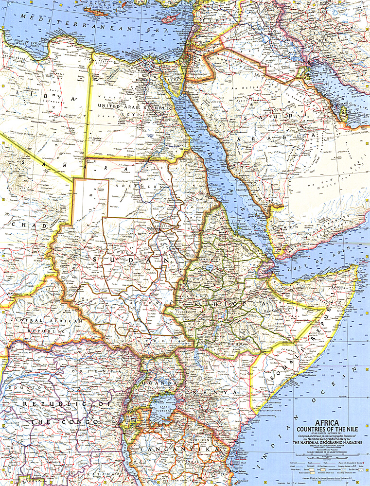 Africa Countries of the Nile Map