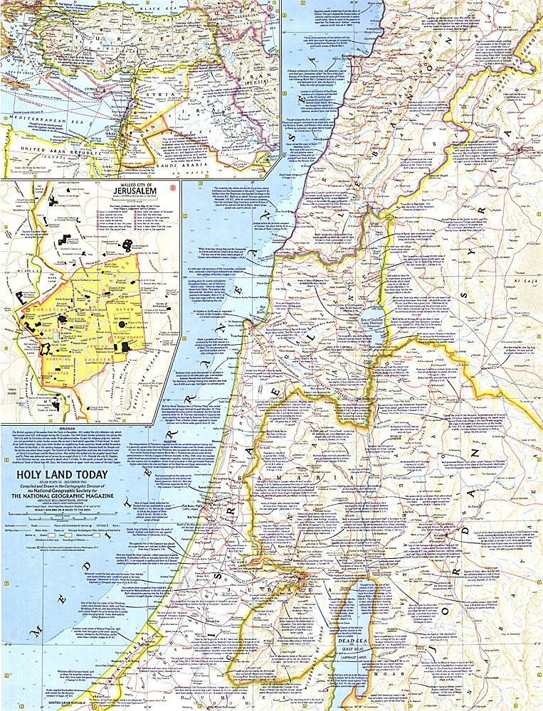 Holy Land Today Map