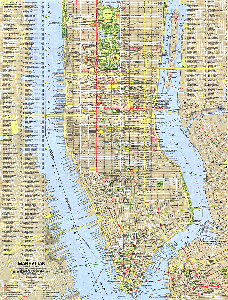 Tourist Manhattan Map – Tourist Map Of Manhattan