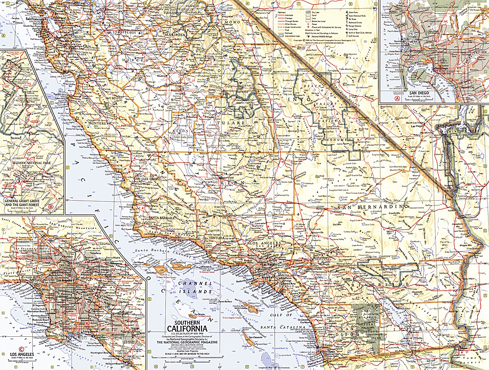 Southern California Map - Calfornia map