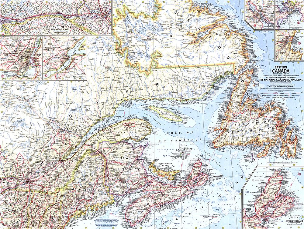 eastern canada map