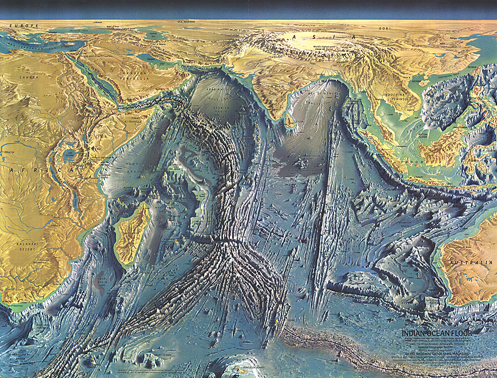 Pacific Ocean Topographic Map.Atlantic Ocean Floor Map