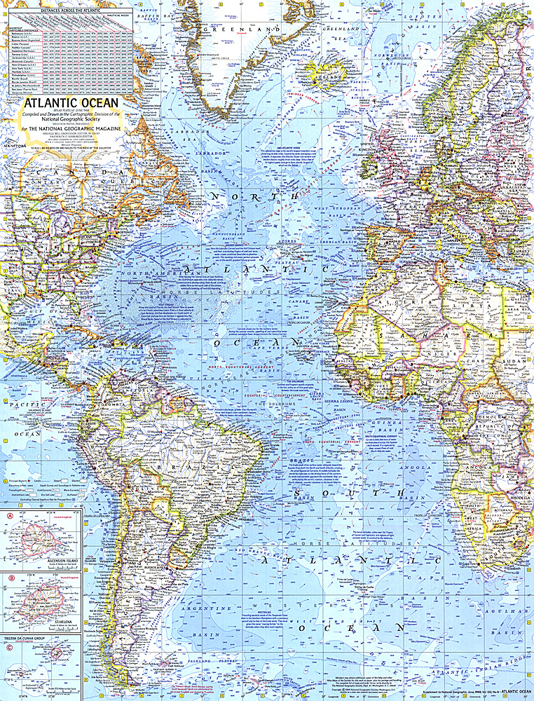 Atlantic Ocean Map