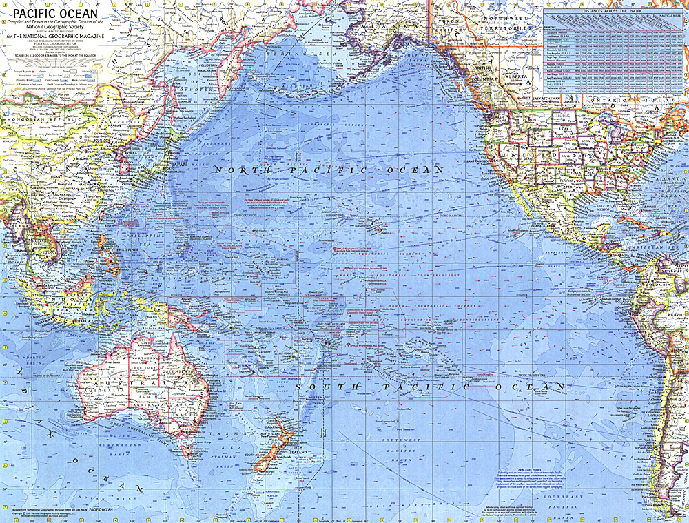 Pacific Ocean Map - Usa map with oceans