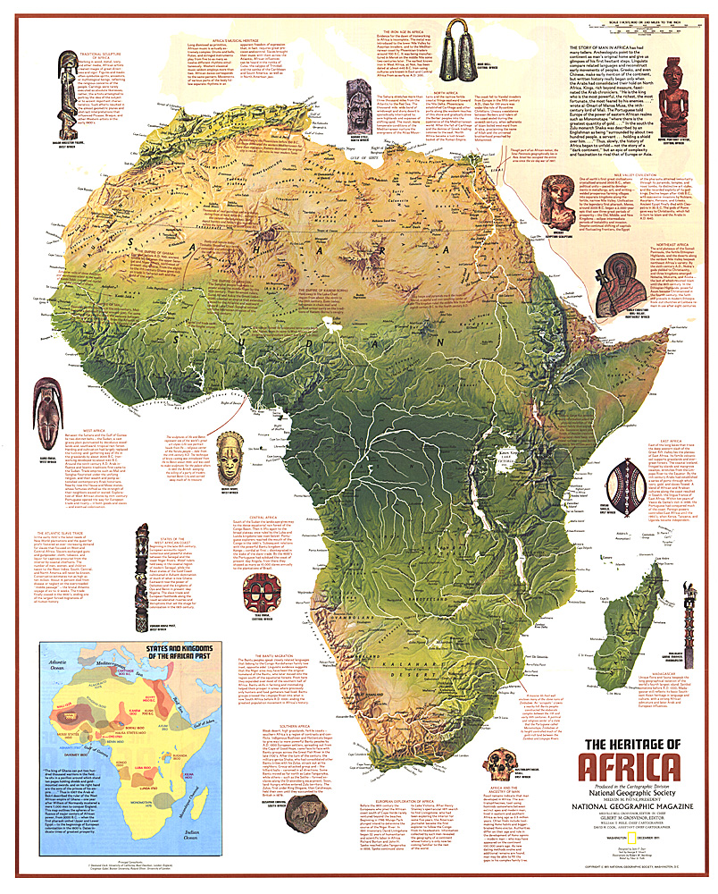 national geographic the heritage of africa map