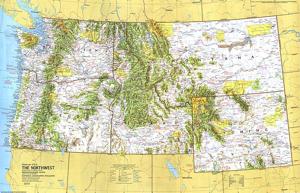 up USA Northwest Map
