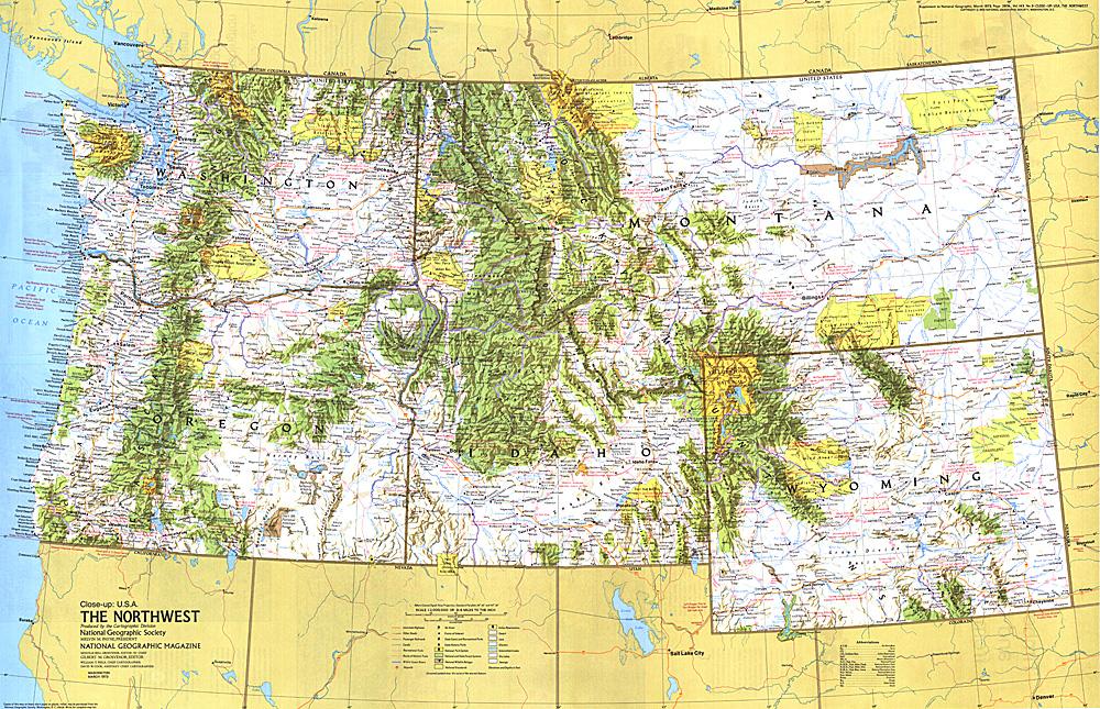 Close-up USA, Northwest Map