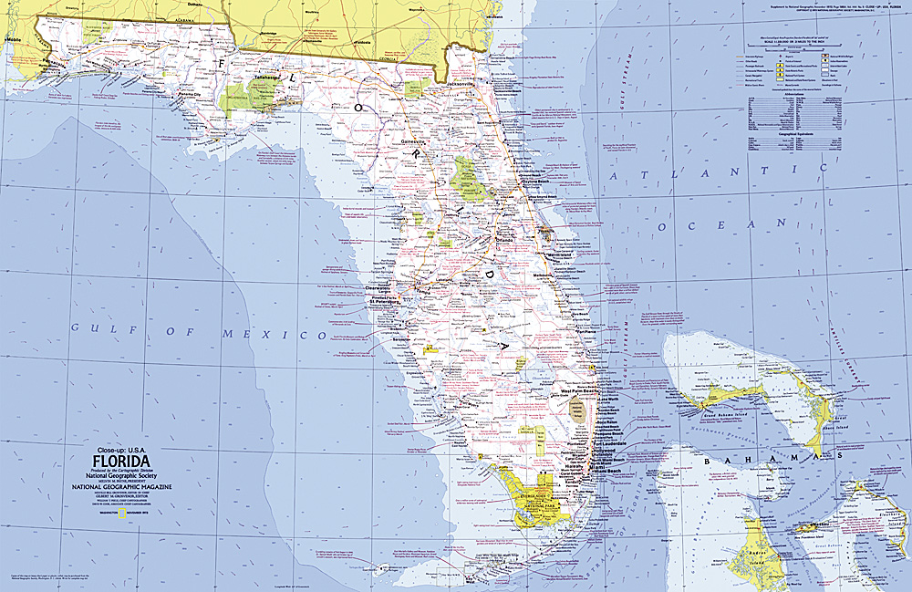 Closeup USA Florida Map - Map of florida usa