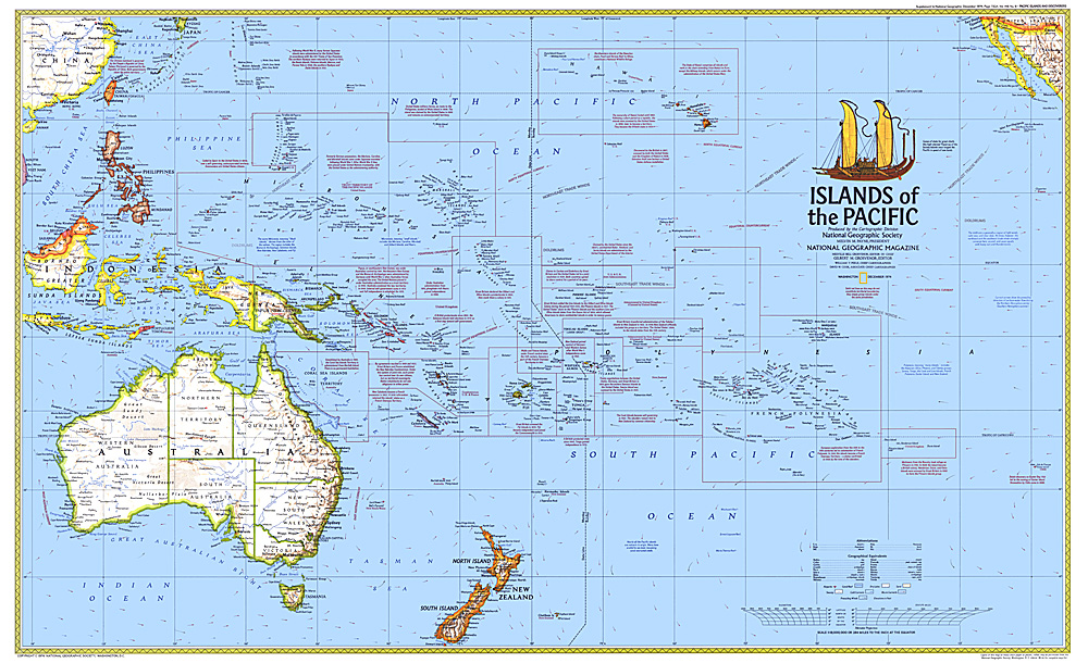 Islands of the Pacific Map
