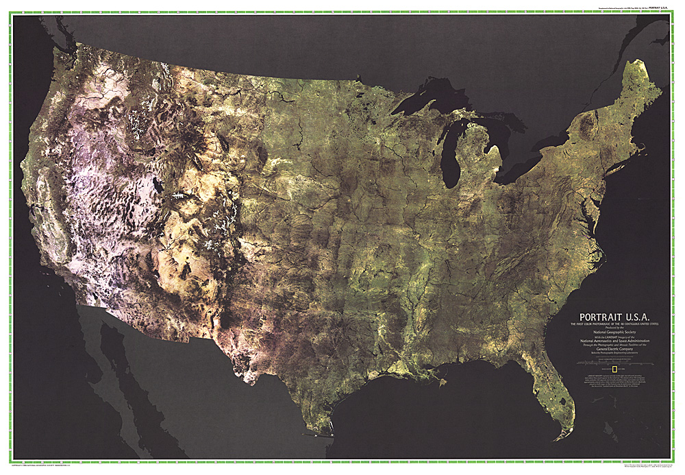 Portrait USA Map - Highlight us map