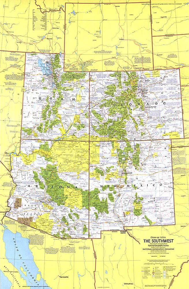 Close-up USA, Southwest Map