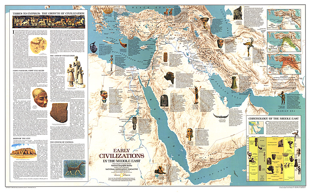 Early Civilizations in the Middle East Map