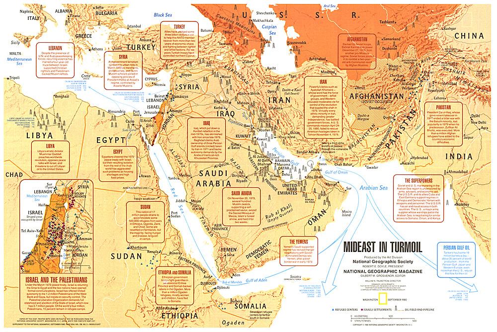 Mideast in Turmoil Map