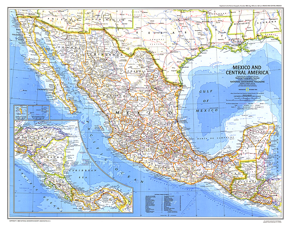 Mexico And Central America Map: Map Of Mexico And Central America At Infoasik.co