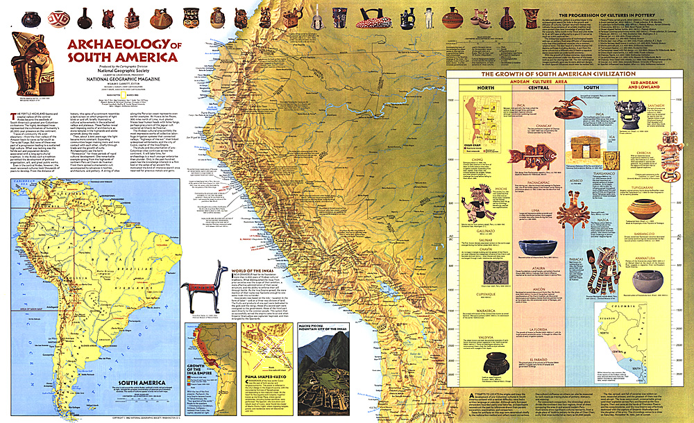 1982 archaeology of south america map