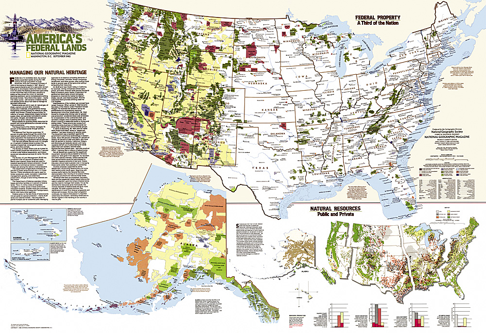 United States Federal Lands Map - Us map of private property