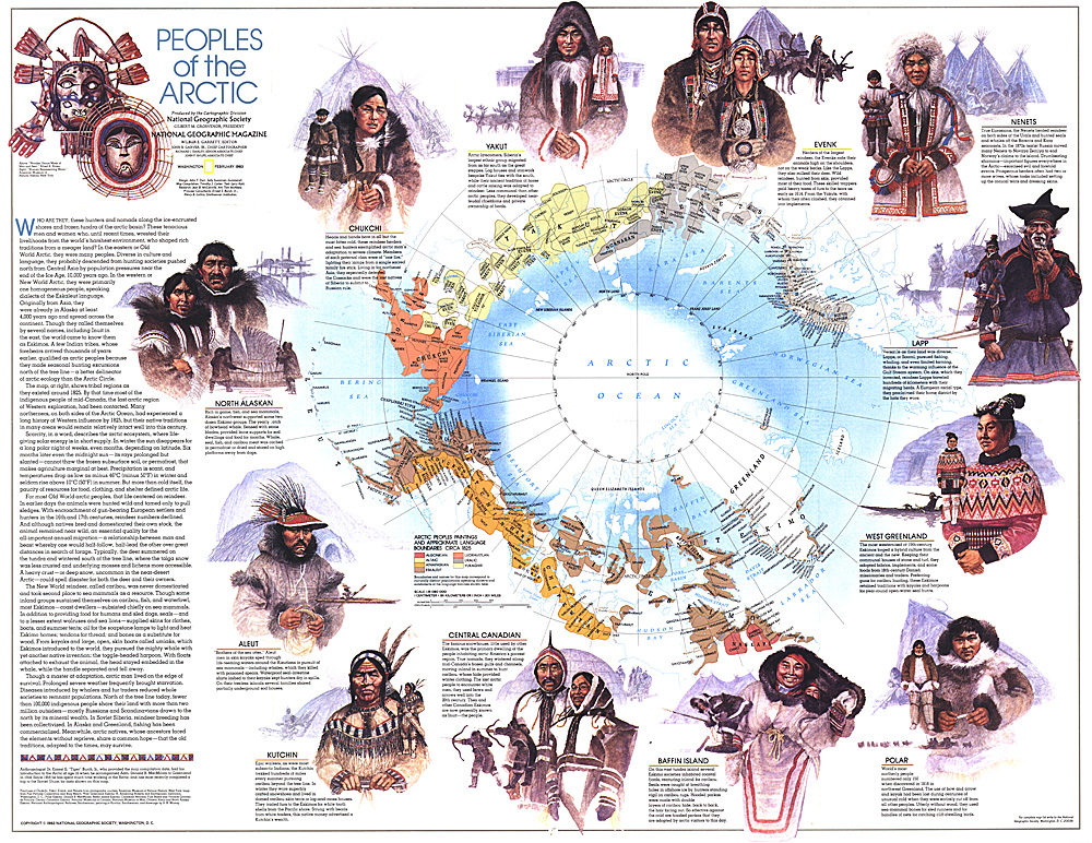 Peoples of the Arctic Map
