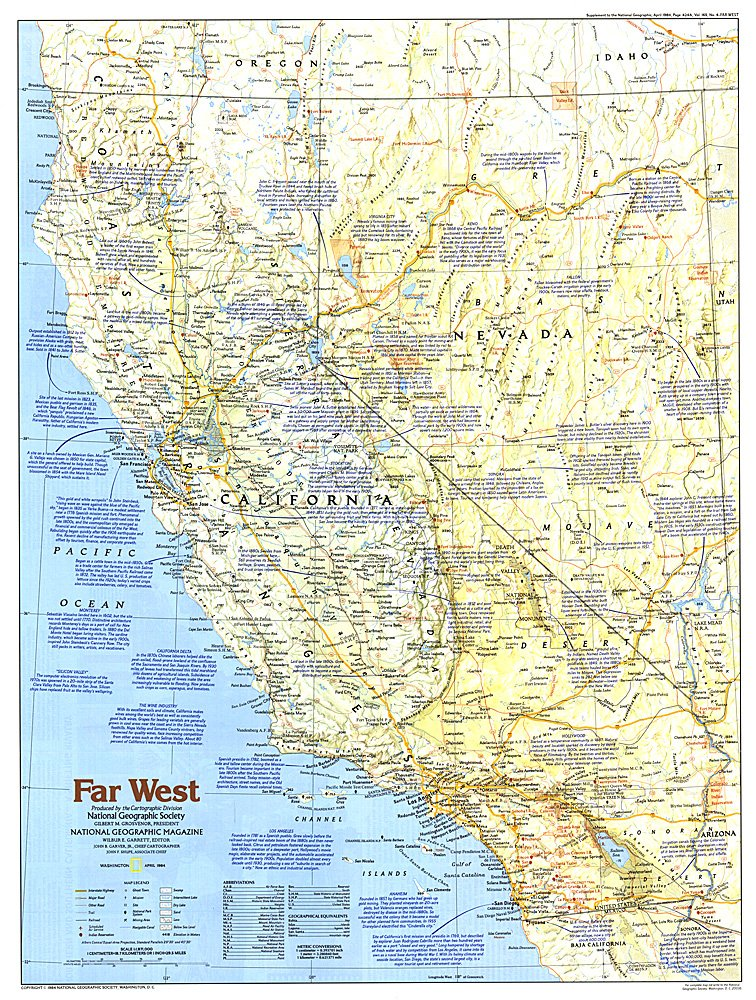 Making of America Far West Map