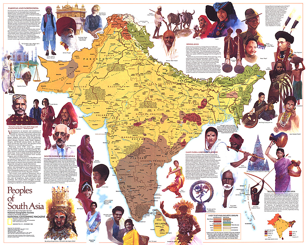 of South Asia Map – South Asia Map